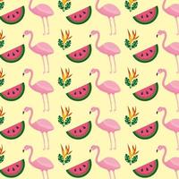 Fundo de flor tropical flamingo melancia