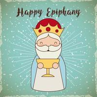Saudação feliz Epifania