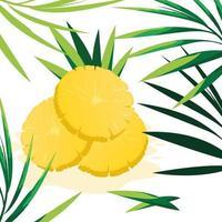 Fatia de design de abacaxi vetor