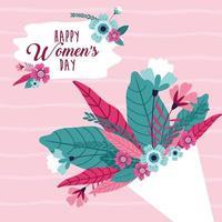 Saudação feliz dia da mulher