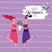 Saudação de feliz dia das mulheres