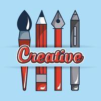 cartão de ideia criativa vetor