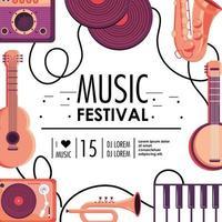 evento de celebração festival de música cultura vetor