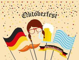 celebração alemã da oktoberfest vetor
