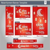 Ramadan Kareem Advertising 6 design de modelo de Banner de venda diferente vetor
