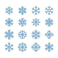 Ícone de floco de neve simples no design de estilo de linha no fundo branco.