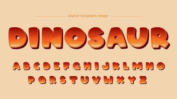 Design de fonte em quadrinhos laranja Cartoon gradiente vetor