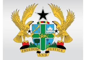 Brasão de Gana vetor