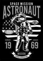 Missão espacial do astronauta vetor