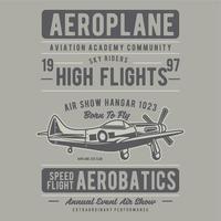 avião velho vetor