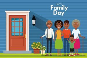 Feliz dia da família vetor