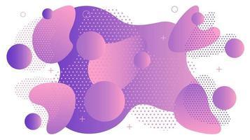 fundo abstrato roxo memphis curvas vetor