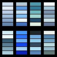 Paletas de cores com tema de inverno vetor