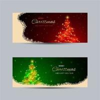 Luz da árvore de Natal e texto para banner
