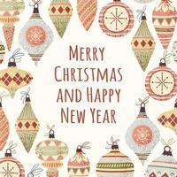 Cartão de saudação de Natal vetor