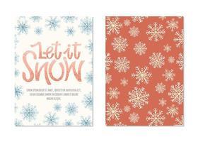 Cartões de Natal com letras