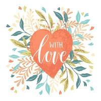 Dia dos namorados coração vetor