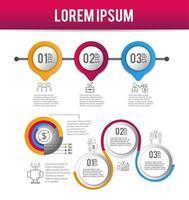 infográfico estratégia dados processo plano