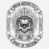 projeto da motocicleta indiana vetor