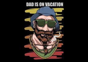 Pai férias design retro vetor