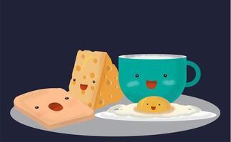 Pequeno-almoço de desenho bonito dos desenhos animados