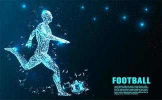 Jogador de futebol abstrato tecnologia