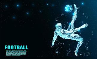 Jogador de futebol abstrato tecnologia vetor