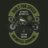 Construído para o conceito de aventura de moto velocidade vetor