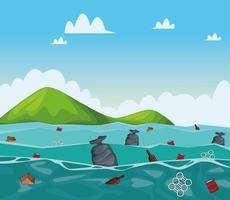 Desenhos de limpeza do mar vetor