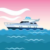 desenho de barco de iate