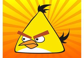 Pássaro amarelo irritado vetor
