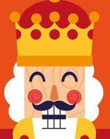 cara de quebra-nozes rei ícone de brinquedo