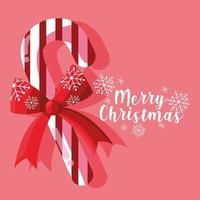 Bengala doce de Natal com laço vetor