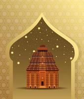 Monumento nacional da índia construção arquitetura vetor
