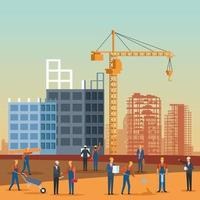 desenho de engenheiro de construção vetor