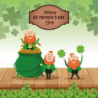 feliz dia de St.Patrick vetor