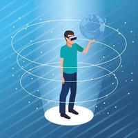 Casal brincando com realidade virtual