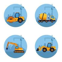 desenho de veículos de construção