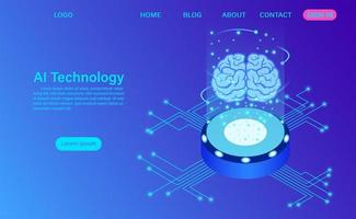 Conceito de tecnologia de inteligência artificial vetor