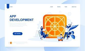 Modelo de página de destino de design de UX vetor