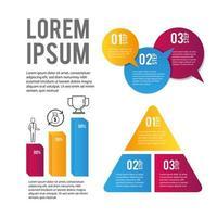 dados de negócios infográfico e informações de estratégia