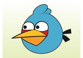 Pássaro azul irritado vetor
