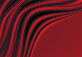 Tecido de seda vermelho com fundo de luxo de espaço em branco. vetor