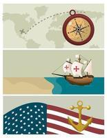 Desenhos animados do dia de Colombo vetor