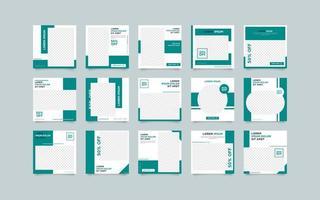 Modelo de publicação de mídia social geométrica