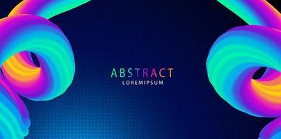 abstrato líquido forma 3D com espaço para texto