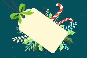 Etiqueta do Feliz Natal vetor
