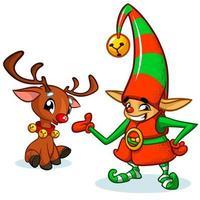 Duende de Natal dos desenhos animados