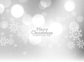 Fundo de feliz Natal com flocos de neve vetor