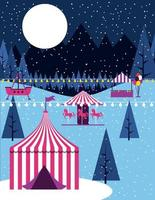 Cena de carnaval de circo de inverno